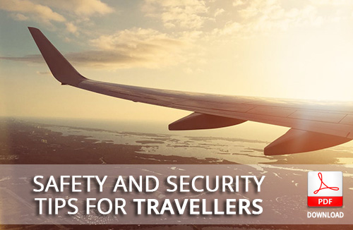 TBCSA Safety and Security tips for travellers